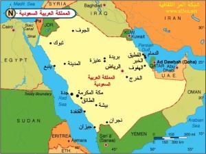 خريطه السعوديه